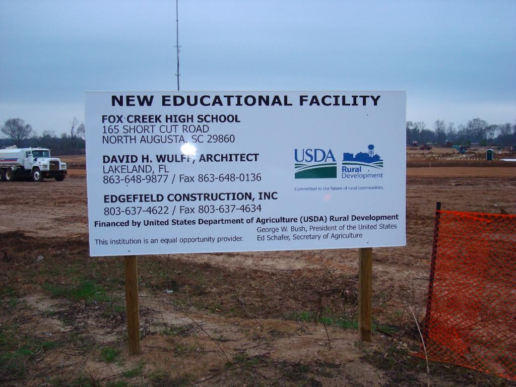 Fox Creek Sign | CBH Excavation